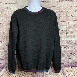 Robert Graham Cooperstown Black Wool Sweater